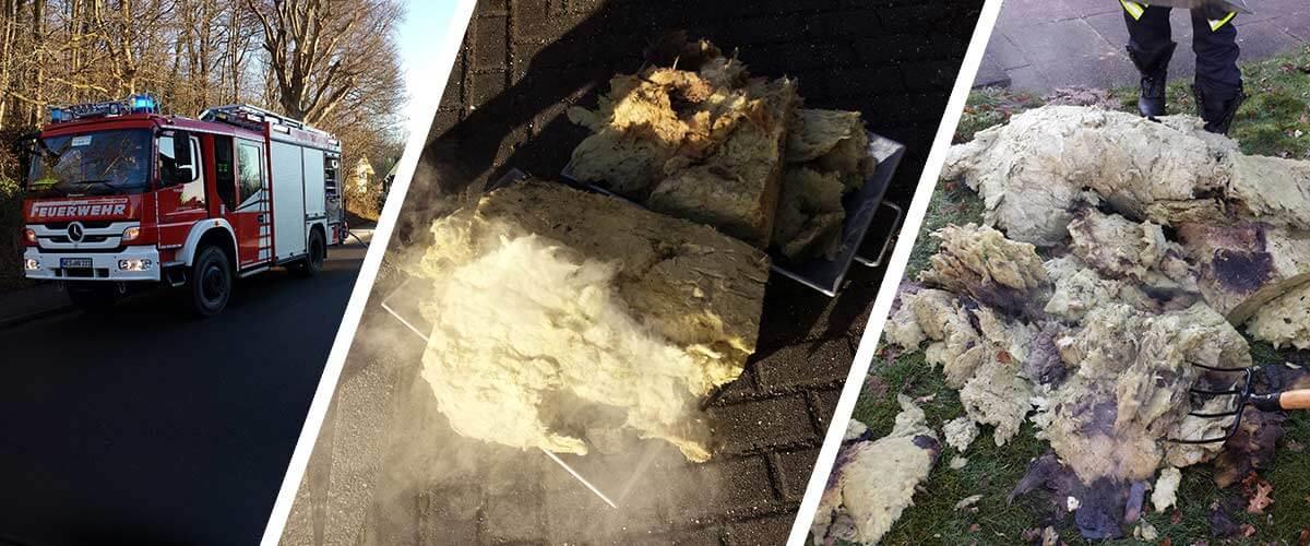 Küchenschwelbrand in Rayen