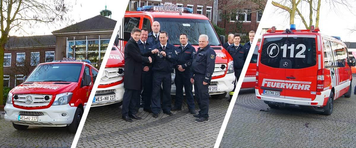 Neue Fahrzeuge für die Feuerwehr!