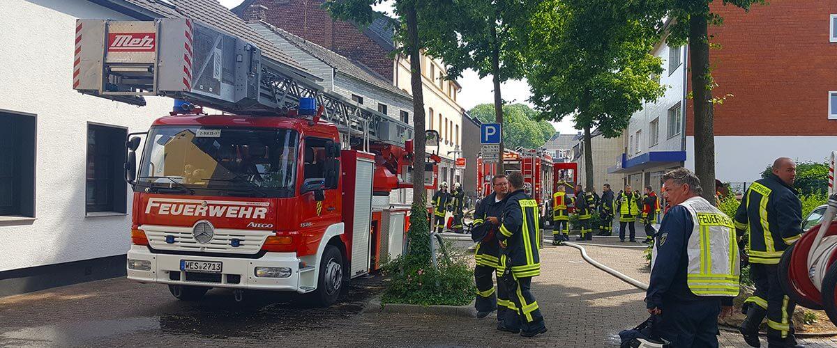 Zimmerbrand auf der Lindenstraße