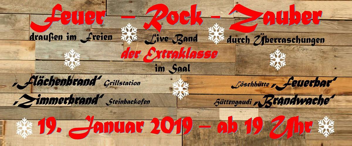 Winterlicher Feuer-Rock-Zauber