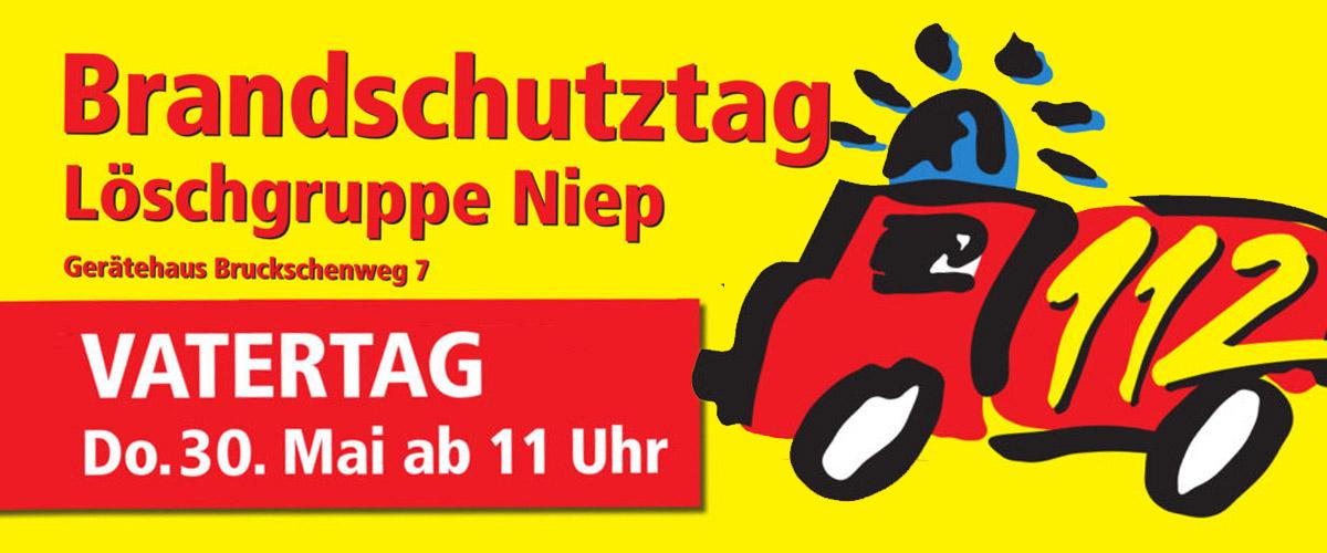 Am 30. Mai ab 11 Uhr ist BrandschutzVatertag bei der Löschgruppe Niep