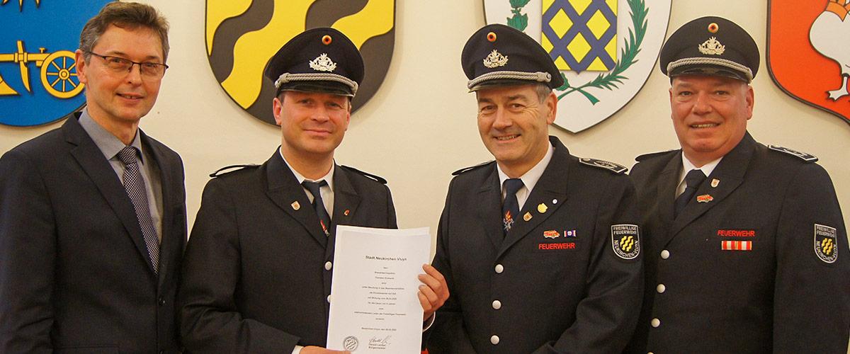 Ernennung zum Ehrenbeamten als stellvertretender Leiter der FFNV