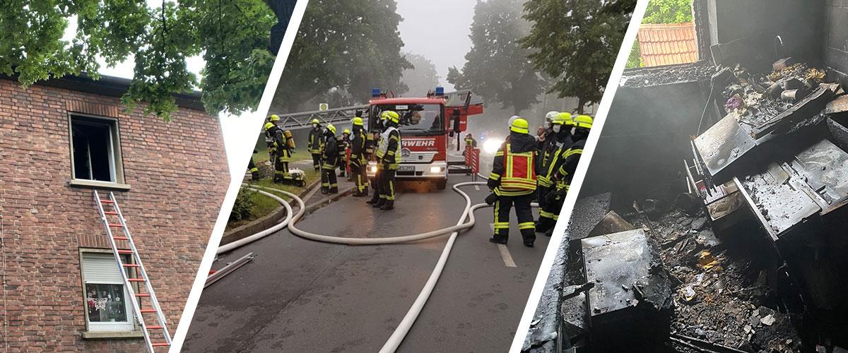 Wohnungsbrand auf der Hans-Böckler-Straße in den frühen Morgenstunden