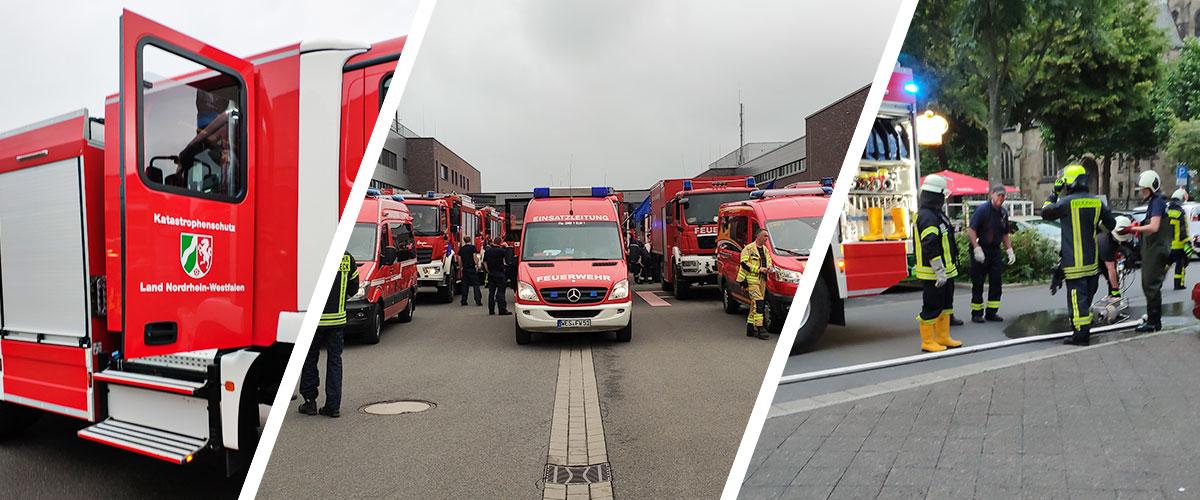 Überörtliche Hilfe für den Raum Krefeld nach Wolkenbruch